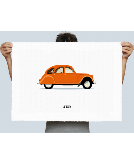 VOITURE CITROEN 2CV ORANGE