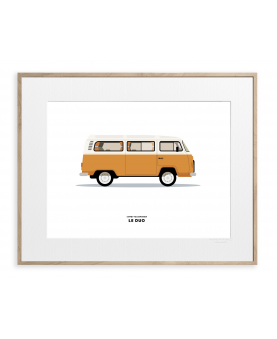 VOITURE COMBI VOLKSWAGEN ORANGE