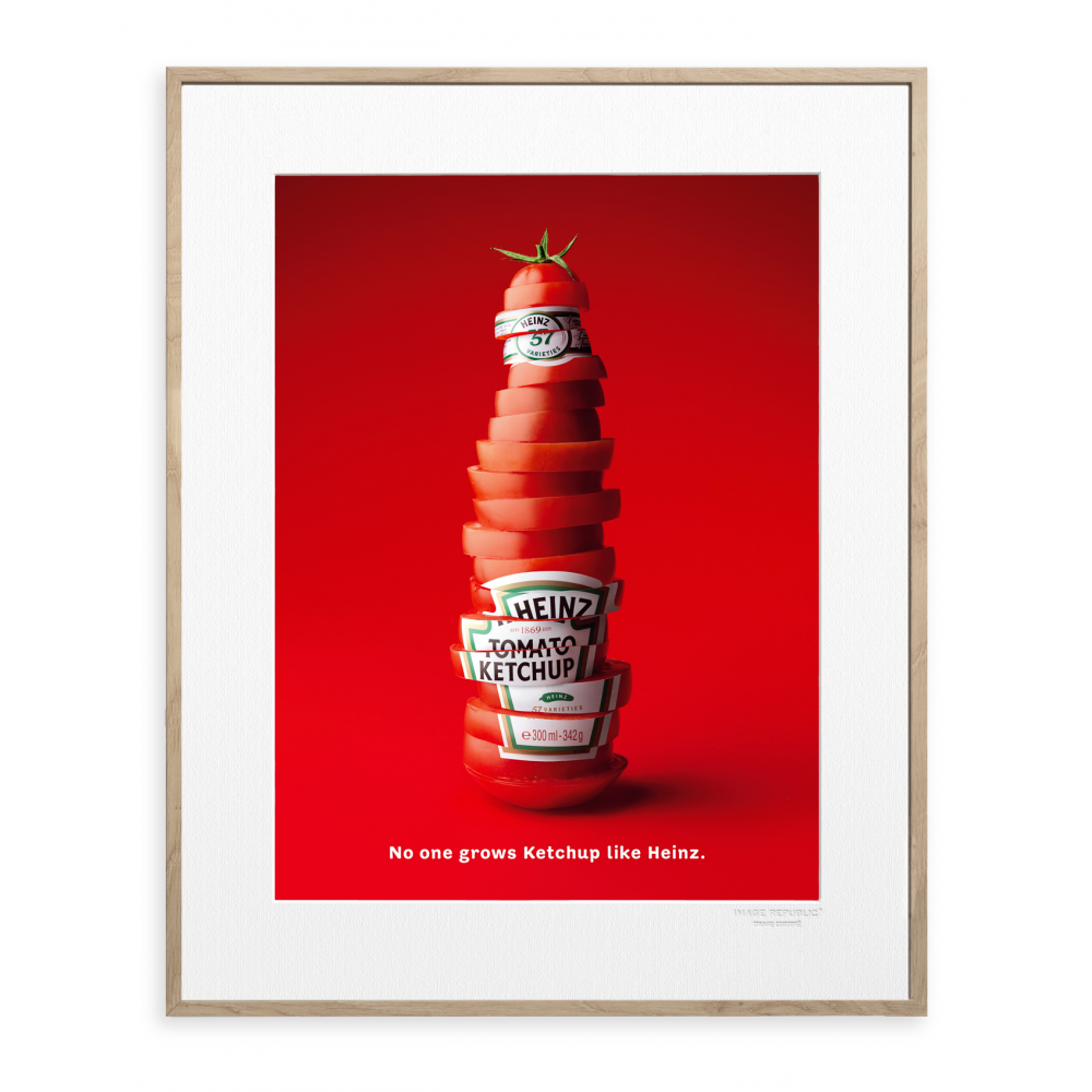 advertising poster heinz slide bottle