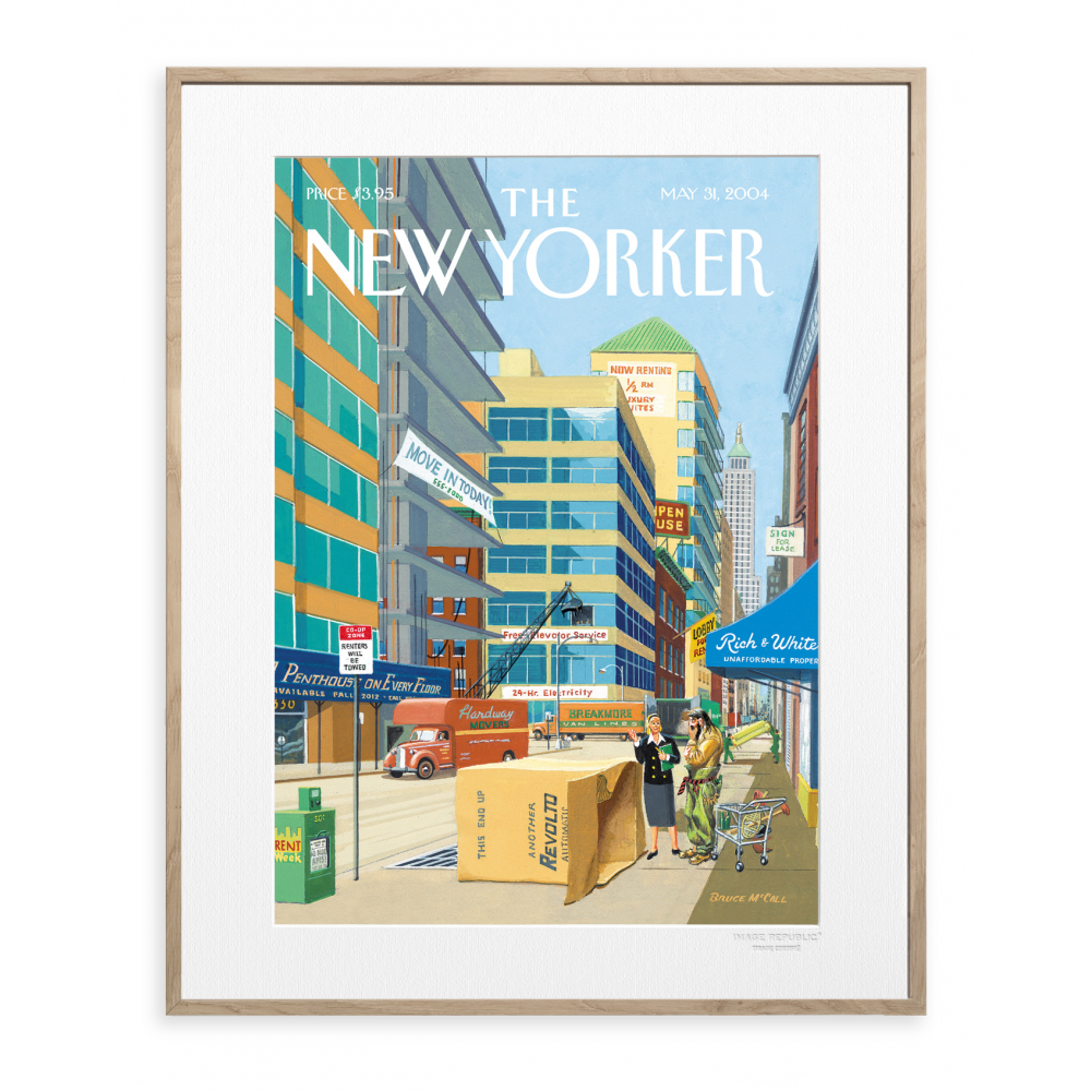 affiche the new yorker 14 mccall demenagement. Black Bedroom Furniture Sets. Home Design Ideas