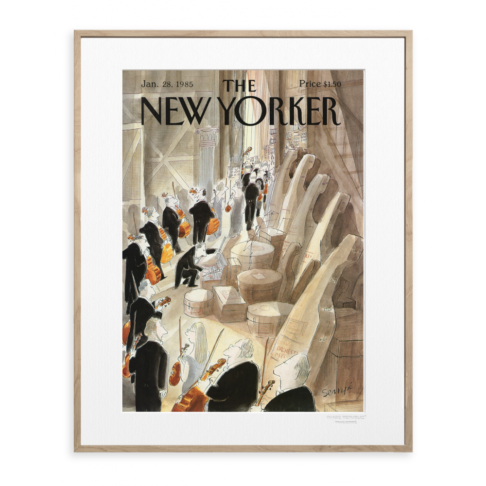 the new yorker poster sempe coulisse. Black Bedroom Furniture Sets. Home Design Ideas