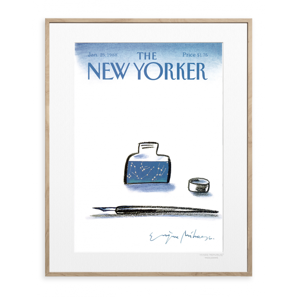 affiche the new yorker 41 mihaesco encrier. Black Bedroom Furniture Sets. Home Design Ideas