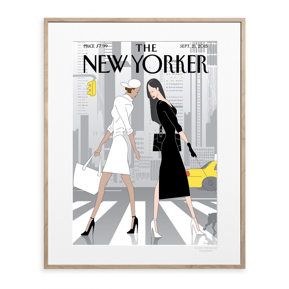 affiche the new yorker 83 foley black white. Black Bedroom Furniture Sets. Home Design Ideas
