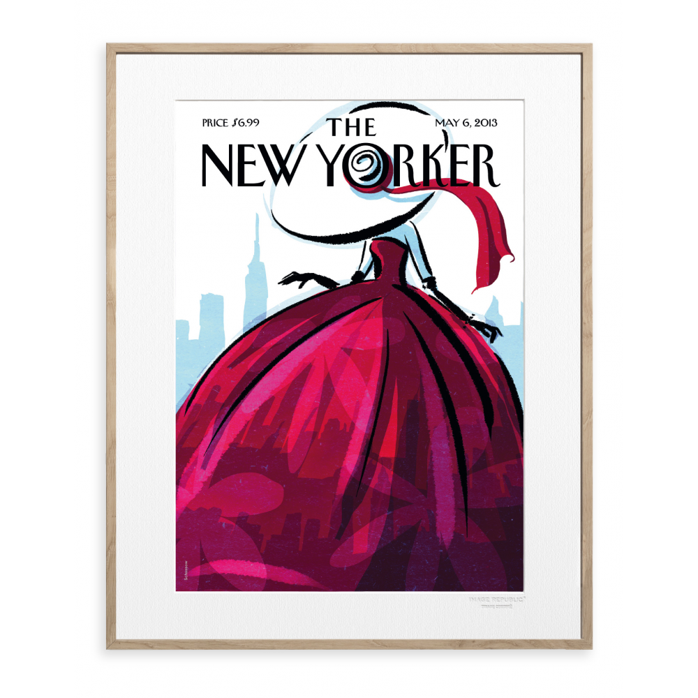 affiche the new yorker schossow fashionista. Black Bedroom Furniture Sets. Home Design Ideas