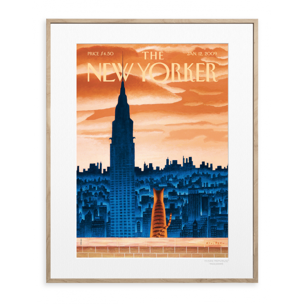 affiche the new yorker ulriksen windowsill cat. Black Bedroom Furniture Sets. Home Design Ideas